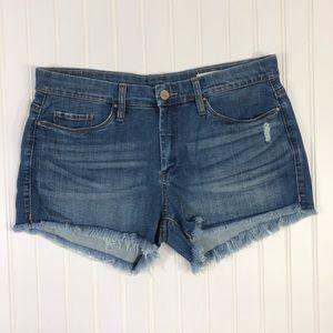 Blank NYC little queenie Disstressed Jean shorts
